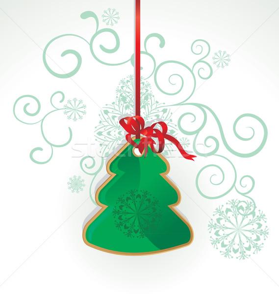 Vector árbol de navidad juguete colgante blanco Foto stock © cherju