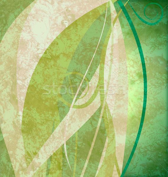 Green grunge abstract eco background Stock photo © cherju