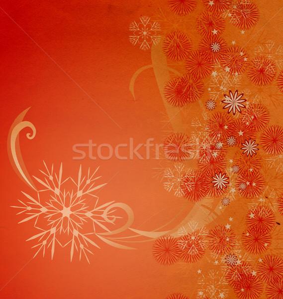 Karácsony klasszikus hópehely kártya illusztráció textúra Stock fotó © cherju