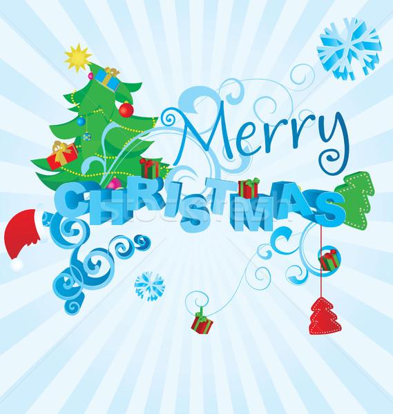 color christmas tree  illustration Stock photo © cherju