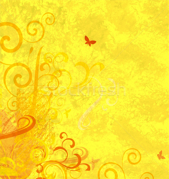yellow textured abstract ornamented background Stock photo © cherju