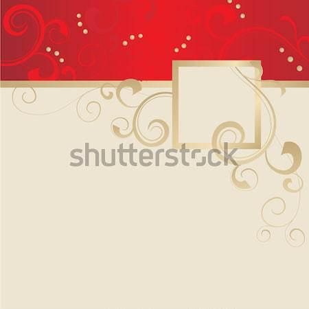 Vogel Geel frame donkere Stockfoto © cherju