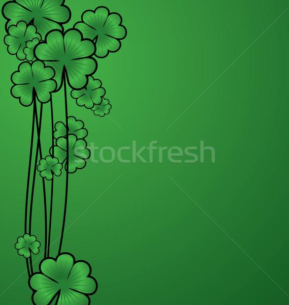 Vettore verde shamrock confine festa di San Patrizio carta Foto d'archivio © cherju