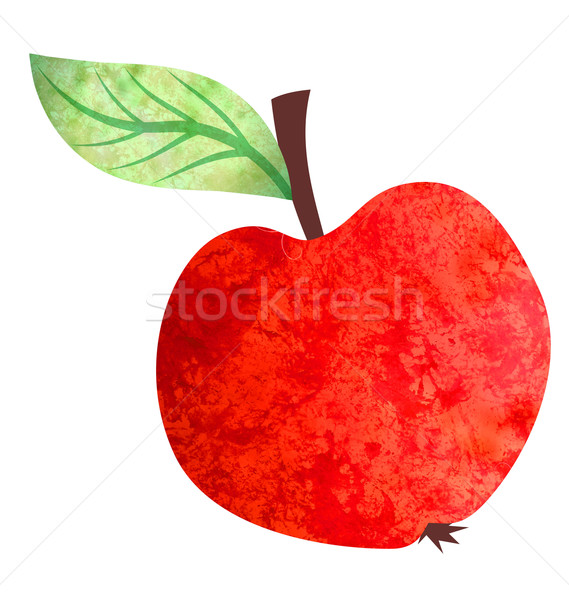 watercolor bright red apple illustration isolated on white Stock photo © cherju