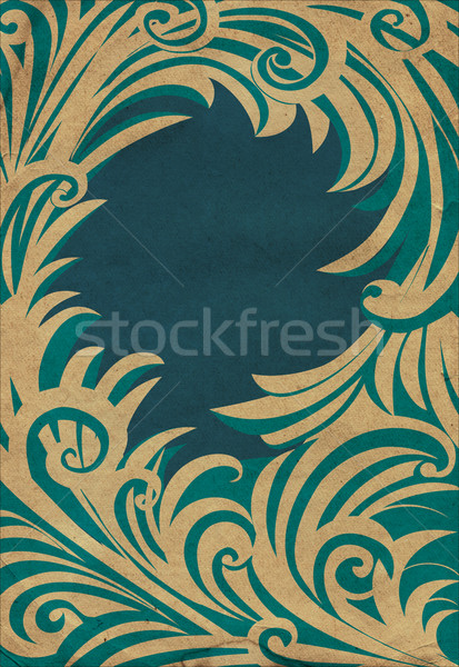 Blauw oud papier winter frame papier Stockfoto © cherju