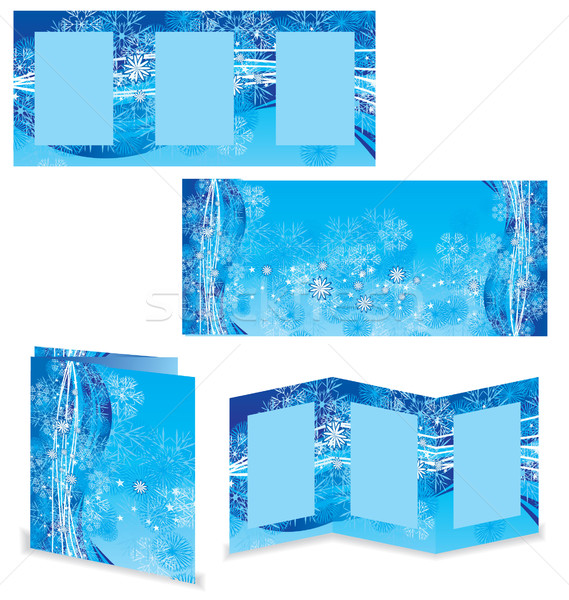 christmas booklet or folder vector image Stock photo © cherju