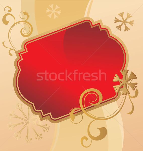 Stock photo: christmas scroll vintage illustration