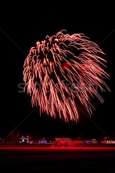 red blow of firework Stock photo © chesterf