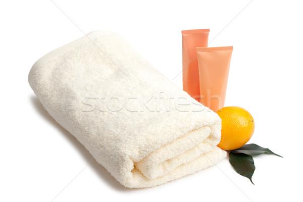 towel cream and orange Stock photo © chesterf