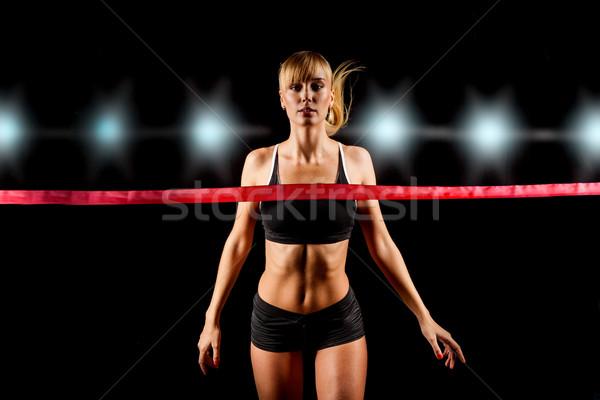 Vrouw bureaucratie glimlach haren sport Stockfoto © chesterf
