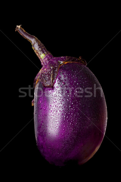 aubergine vegetable isolated on black Stock photo © chesterf