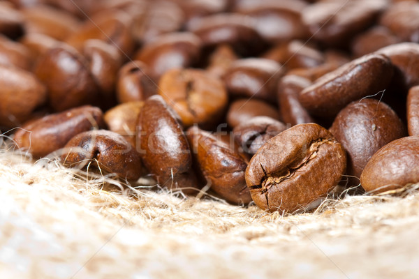 closeup coffee beans Stock photo © chesterf