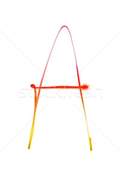 one letter of light trace alphabet Stock photo © chesterf