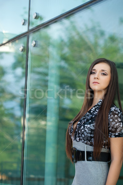 brunette woman looking at camera Stock photo © chesterf