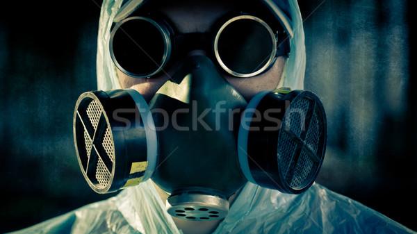男 肖像 クローズアップ 顔 空 戦争 ストックフォト © chesterf