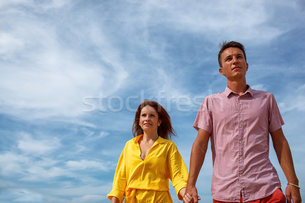 couple under blue skies Stock photo © chesterf
