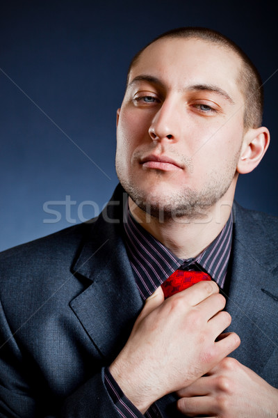 businessman put on the tie Stock photo © chesterf