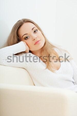 Stockfoto: Mooie · sexy · vrouw · trui · vrouw · model