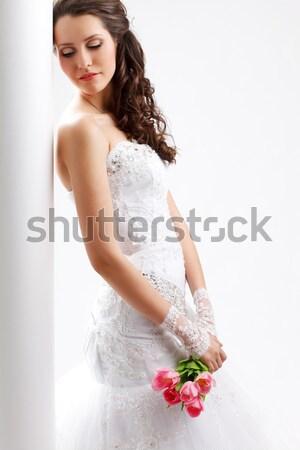 美しい 花嫁 立って 白 列 ストックフォト © chesterf