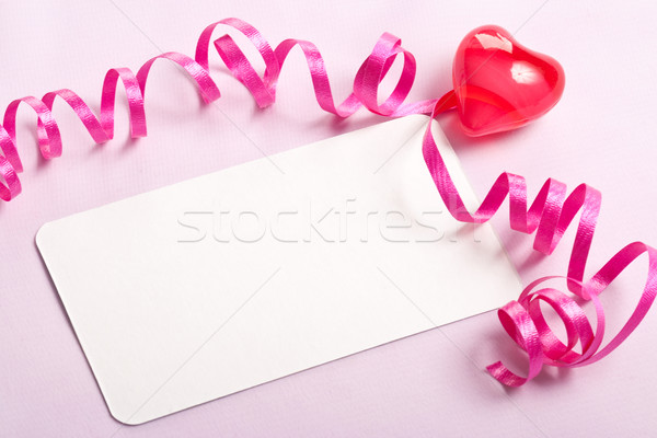 blank card valentine background Stock photo © chesterf