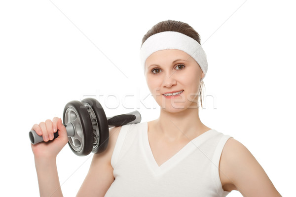 young woman holding sports wheel Stock photo © chesterf