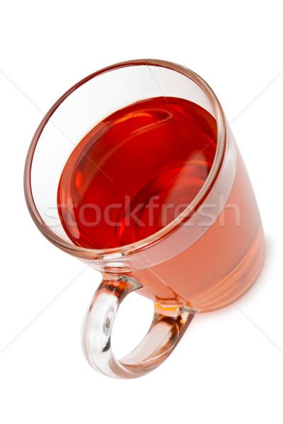 茶碗 孤立した 白 水 背景 オレンジ ストックフォト © chesterf