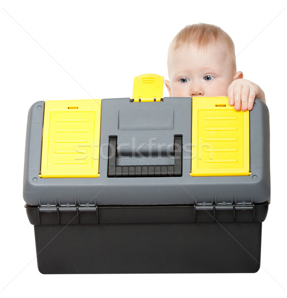 small boy with toolbox Stock photo © chesterf