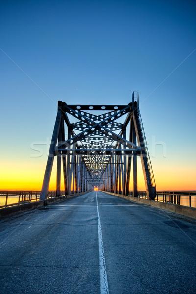 automobile bridge on sunrise Stock photo © chesterf