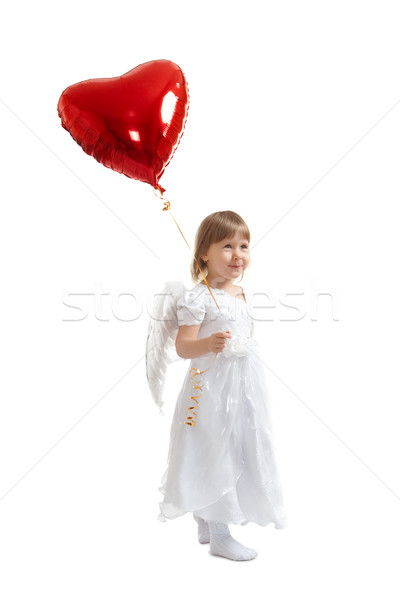 girl with balloon Stock photo © chesterf