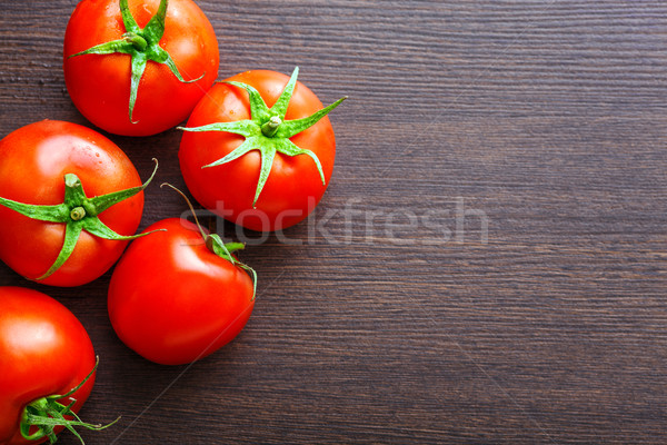 fresh red tomatoes on table Stock photo © chesterf