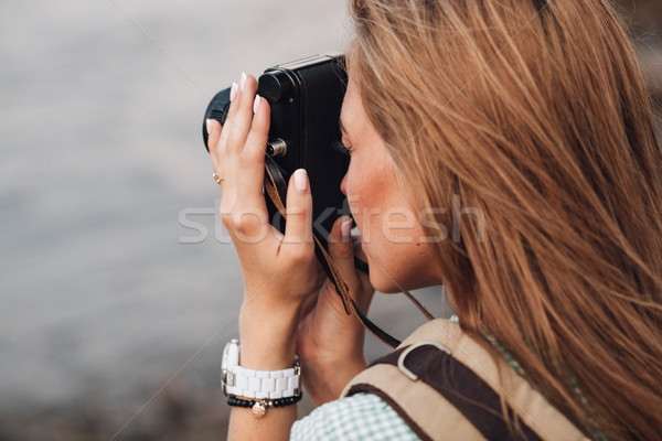 Сток-фото: девушки · фотографии · Vintage · фото · камеры · Открытый