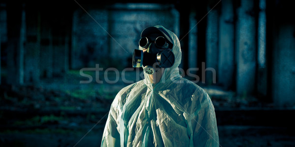 man portrait in respirator Stock photo © chesterf