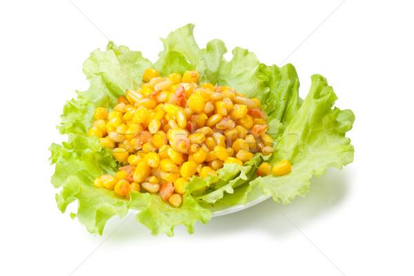 孤立した サラダ ヒマラヤスギ ナット 白 ストックフォト © chesterf