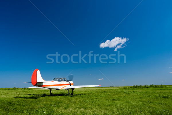 plane under the blue skies Stock photo © chesterf