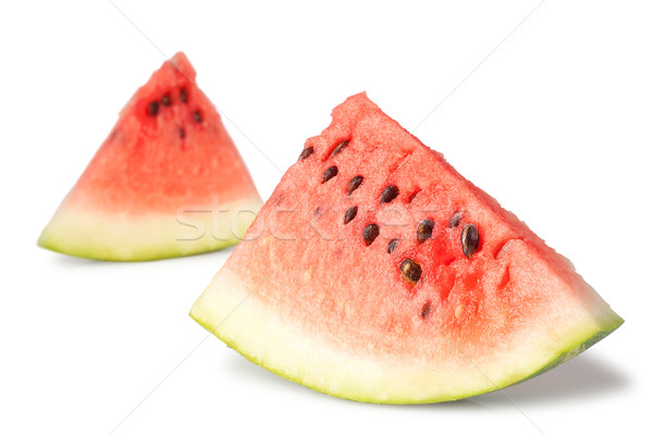 two triangle slices of water melon Stock photo © chesterf