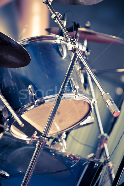 closeup musical drums Stock photo © chesterf