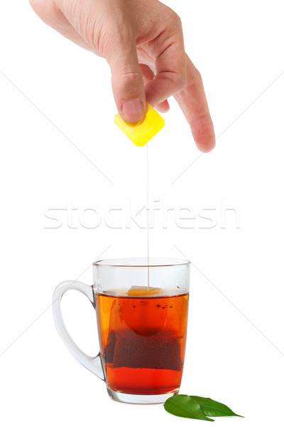 tea cup and teabag Stock photo © chesterf