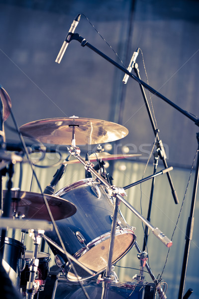 drums and microphones Stock photo © chesterf