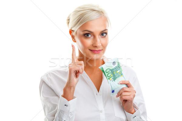 счастливым евро белый Сток-фото © chesterf