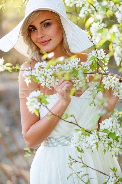 саду красивой вертикальный портрет весны Сток-фото © chesterf
