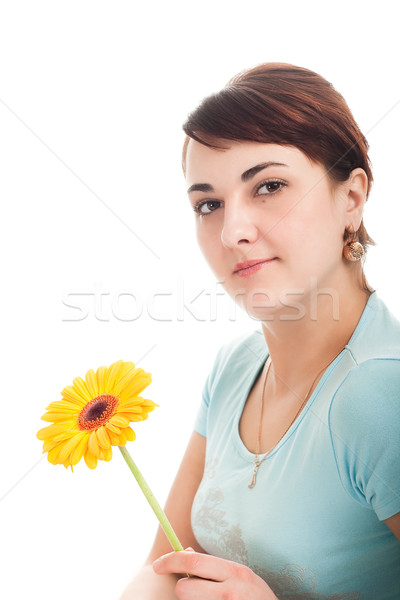 woman portrait with gerber  Stock photo © chesterf