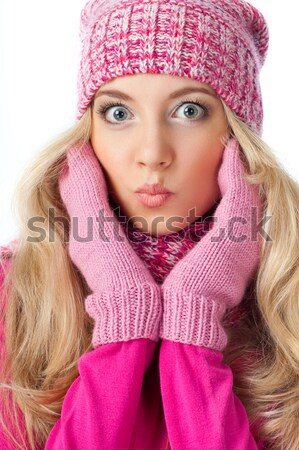 woman wearing knitwear Stock photo © chesterf