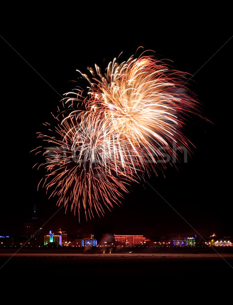 red blowing holiday fireworks Stock photo © chesterf