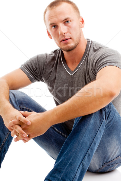 strong casually dressed man Stock photo © chesterf