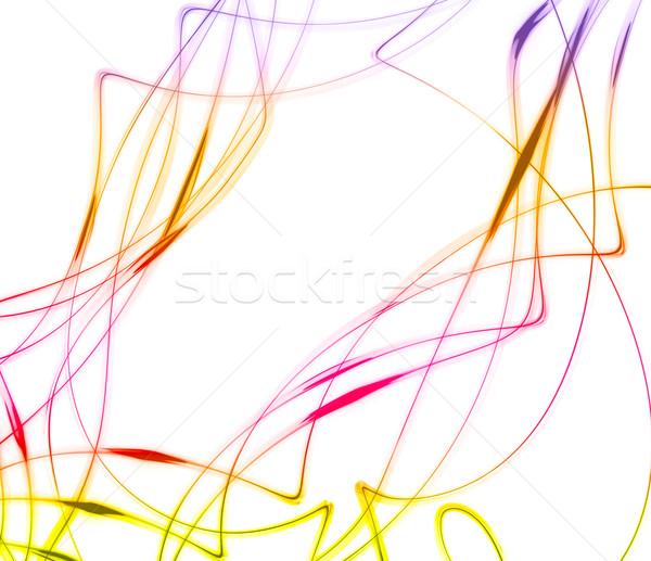 Resumen color curvas blanco arte verde Foto stock © chesterf