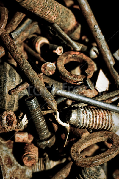abstract rusty grunge iron tools Stock photo © chesterf