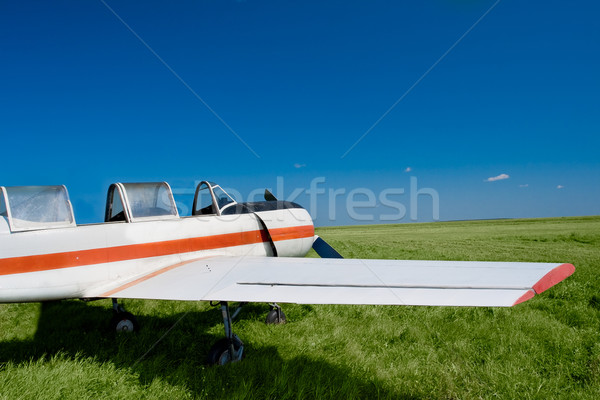 plane in the field Stock photo © chesterf