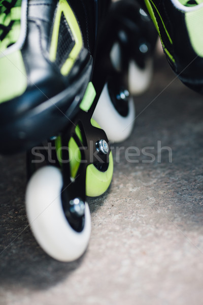 Wheels of roller skates closeup Stock photo © chesterf