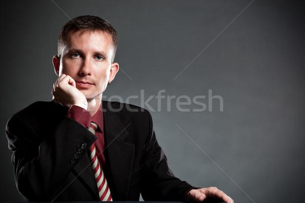 handsome businessman portrait Stock photo © chesterf