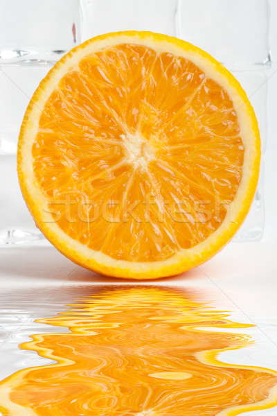 orange fruit with flood Stock photo © chesterf